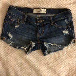 Hollister dark denim shorts